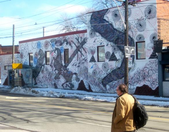 mural in Toronto by artist Andrew Schoultz