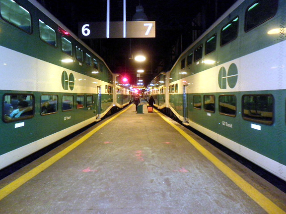 Two GO Trains at Union Station