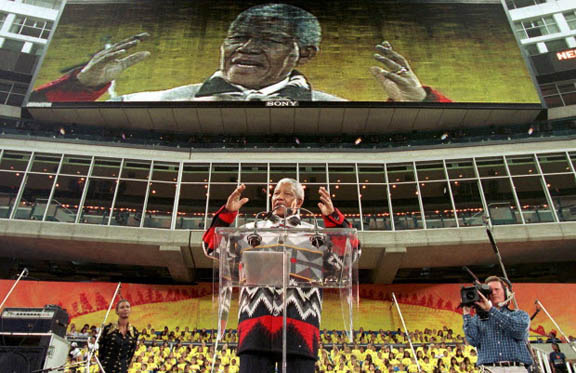 South African President Nelson Mandela a