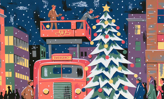 Toronto Transit Christmas Cards posted in streetcars, buses ...
