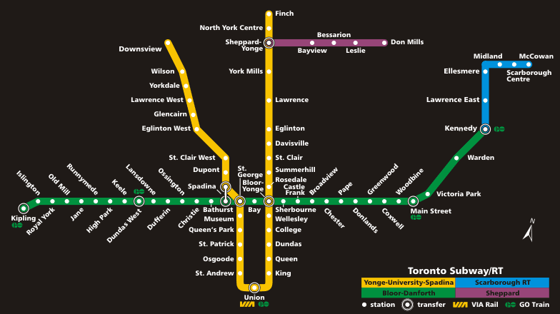 Kipling Subway Station Map