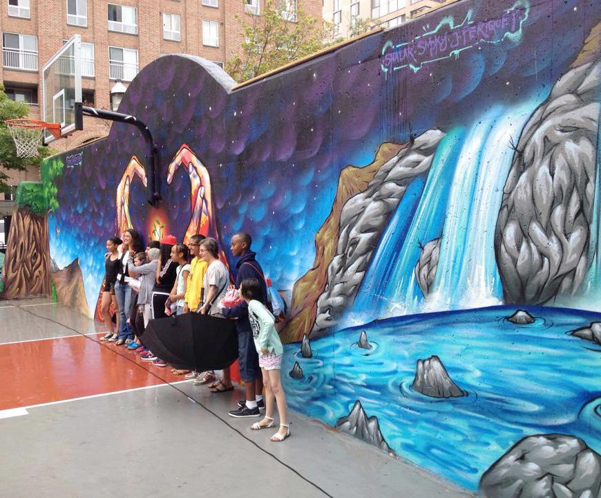 Neighbourhood Artists Restore Basketball Court Toronto Savvy