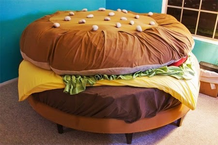 hamburger+bed
