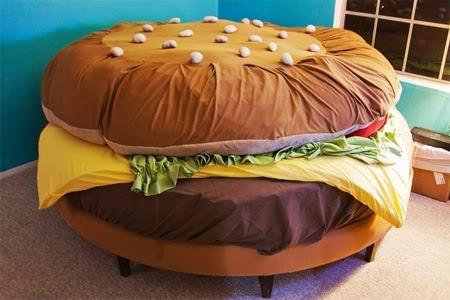 hamburger+bed
