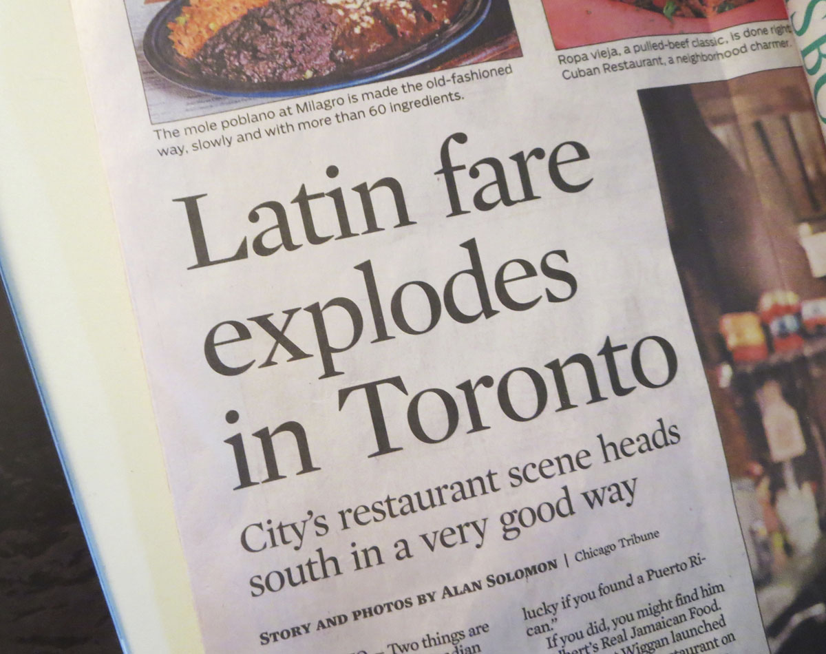 The Mid West S Gastronomic Capital Chicago Finds Toronto S Latin
