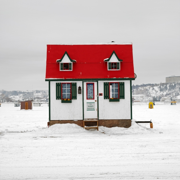 """Ice Hut # 321-La Baie Des Ha! Ha!, Quebec, 2010  -  From the Series """"Ice Huts"""" by Richard Johnson  -  www.icehuts.ca"""
