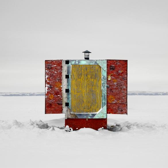 "Ice Hut 504, Shields, Blackstrap Lake, Saskatchewan, 2011 - From the Series ""Ice Huts"" by Richard Johnson © 2007-2011 Richard Johnson Photography Inc, www.icehuts.ca, 416-755-7742"