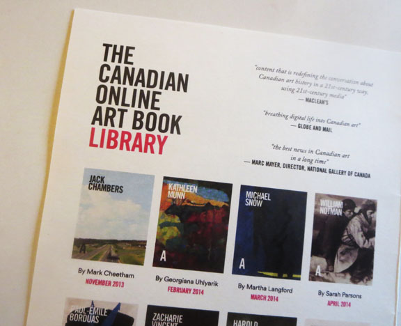 founded in 2013 and still going strong the canadian online art book project makes full use of 21st century media to potentially reach millions